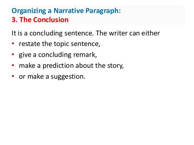 narrative paragraph topics