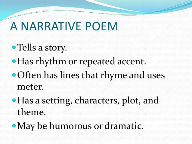 Narrative poem