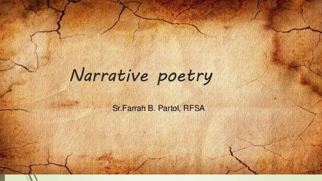 Narrative poetry Sr.Farrah B. Partol, RFSA
