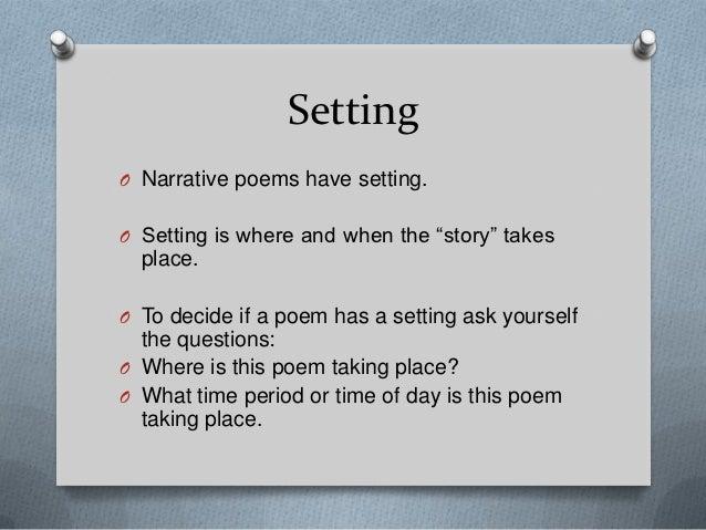 Narrative Poetry Black Board Course