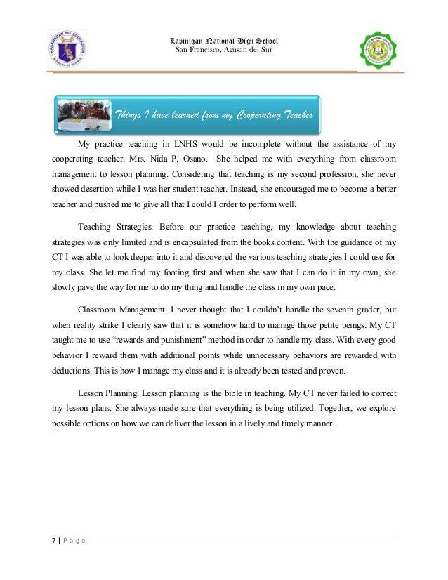 short essay on my class teacher