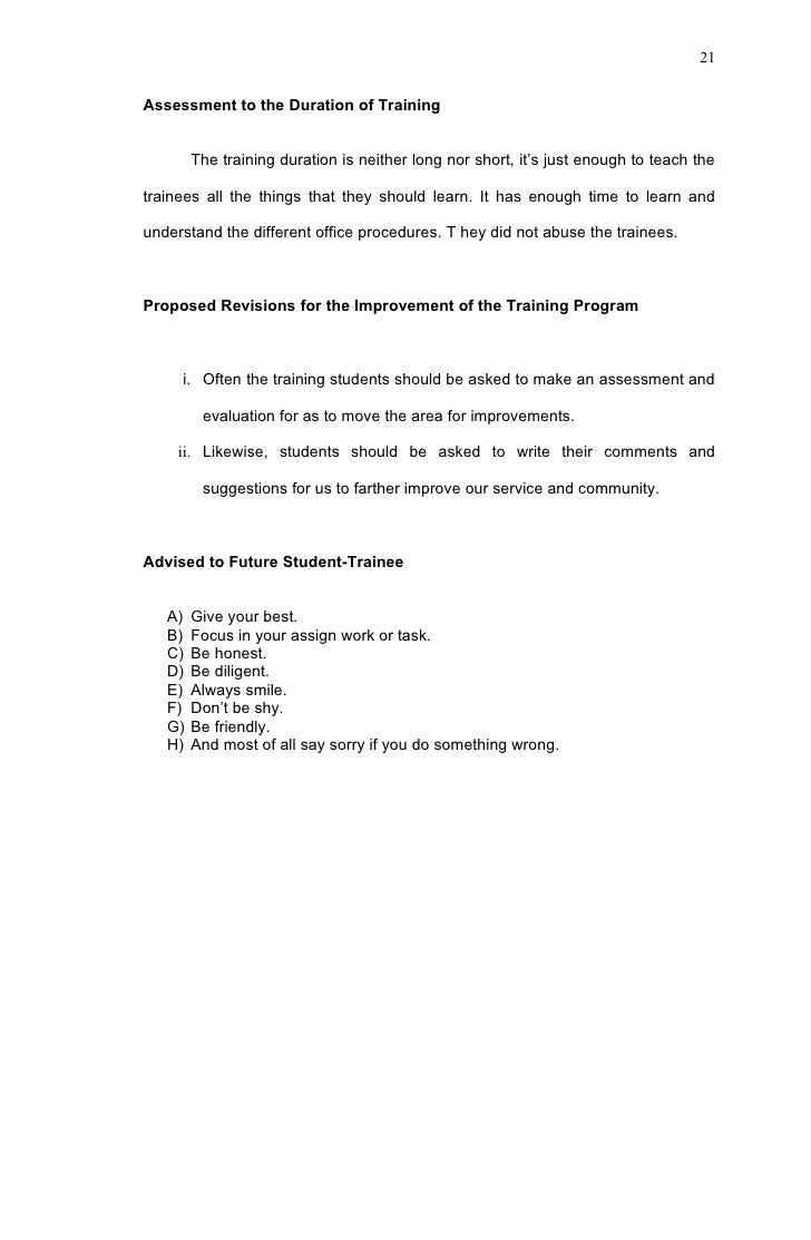 training report template excel