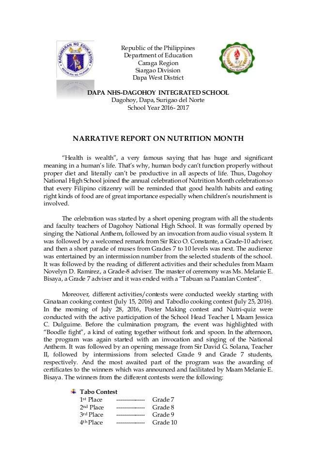 essay tungkol sa buwan ng nutrisyon 2014