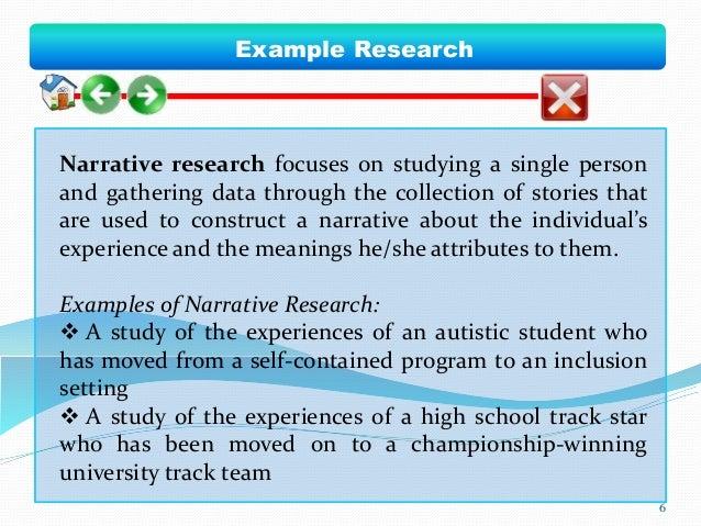 Narrative research