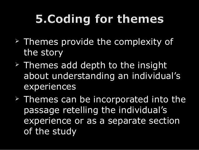 Narrative research design