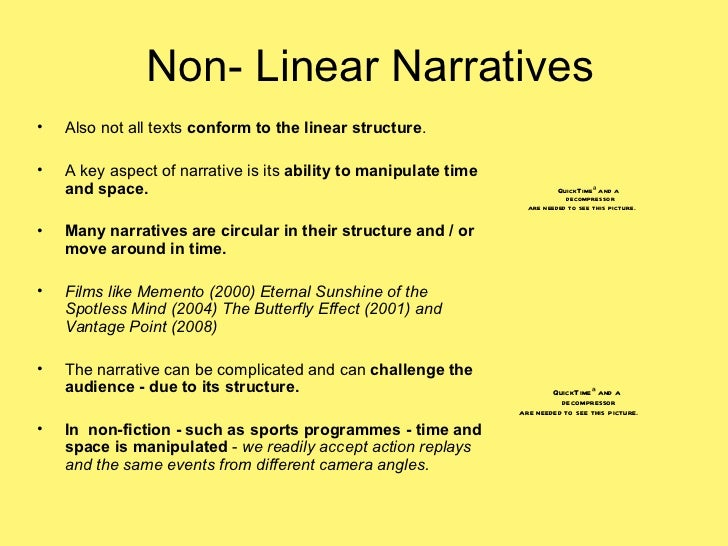 how to write a non linear narrative