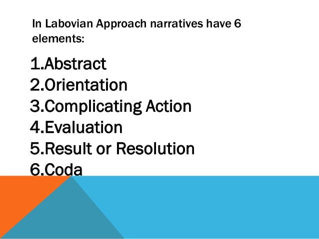 Labovian theory