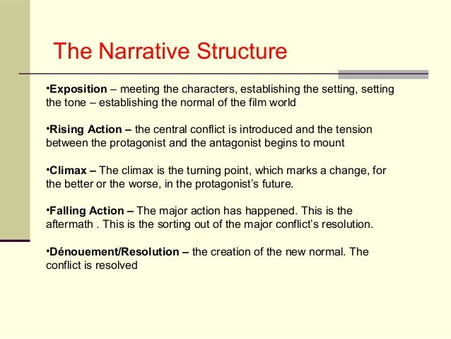 typical patterns of narrative development in Narrative structure in film how films tell stories  7 typically a narrative  begins with one situation (exposition) a series of changes occurs according to a  pattern of cause and effect finally a new situation  developing characters how  do writers develop round, dynamic characters through.