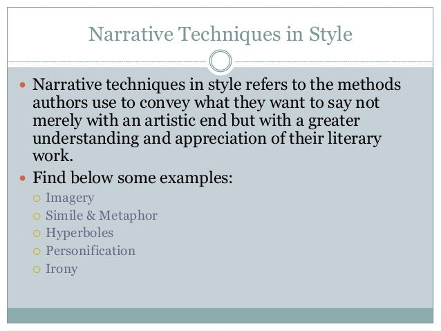 narrative style of writing