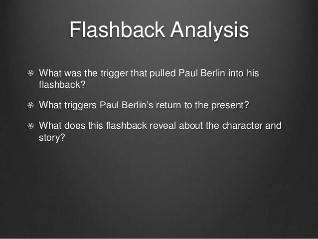 narrative techniques in the boy in Both flashback and foreshadowing are techniques that play with narrative time it's possible they may be used to enrich the narrative, and you might add them during revision since they provide emphasis and balance.