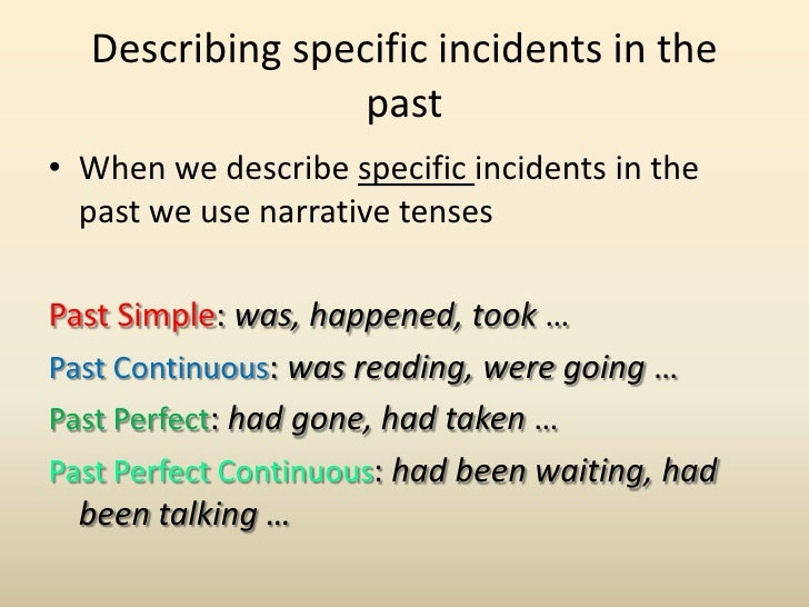 narrative tenses A set of online activities for students to practice narrative tenses.