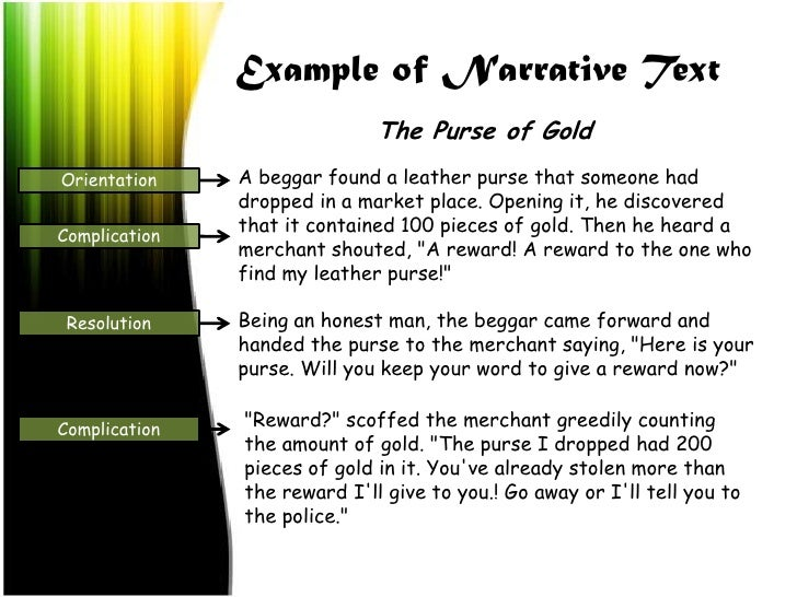 short narrative text What is a narrative essay when writing a narrative essay, one might think of it as telling a story these essays are often anecdotal, experiential, and personal.