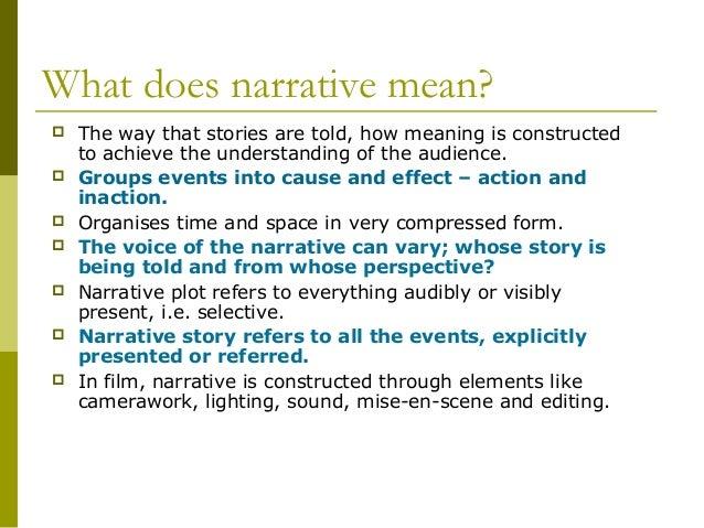 Narrative theories brief version