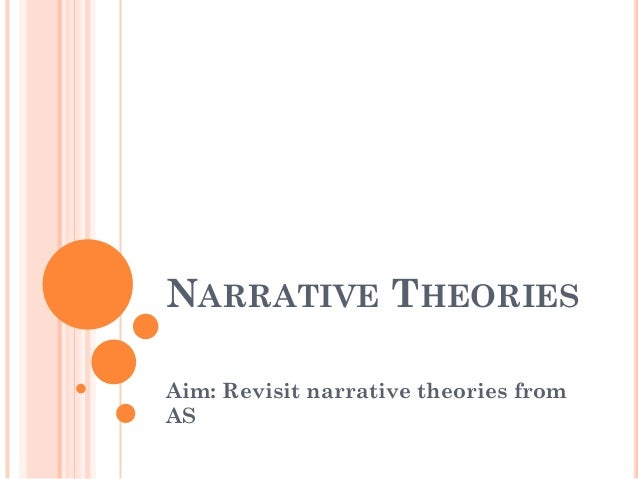 NARRATIVE THEORIES Aim: Revisit narrative theories from AS