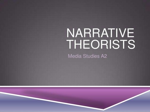 NARRATIVE THEORISTS Media Studies A2