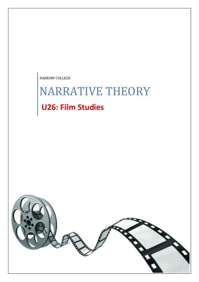 HARROW COLLEGE  NARRATIVE THEORY U26: Film Studies  Harrow College User