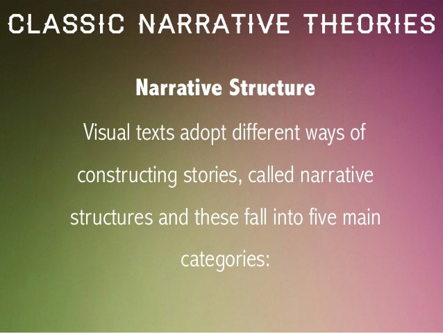 narrative and media studies Useful media studies templates (2) please log in or join us to access our resources a generic worksheet for applying propp's narrative theory to.