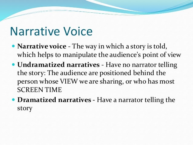 Characterisation and narrative voice