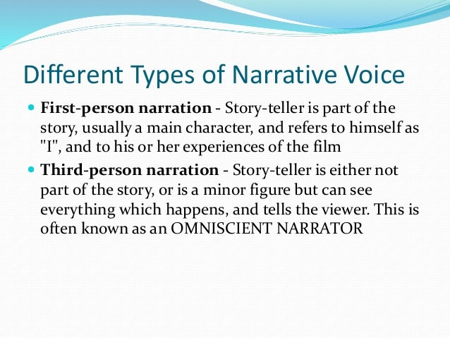 narrative voice Diegesis: a narrative's time-space continuum, to borrow a term from star trek the diegesis of a narrative is its entire created world.