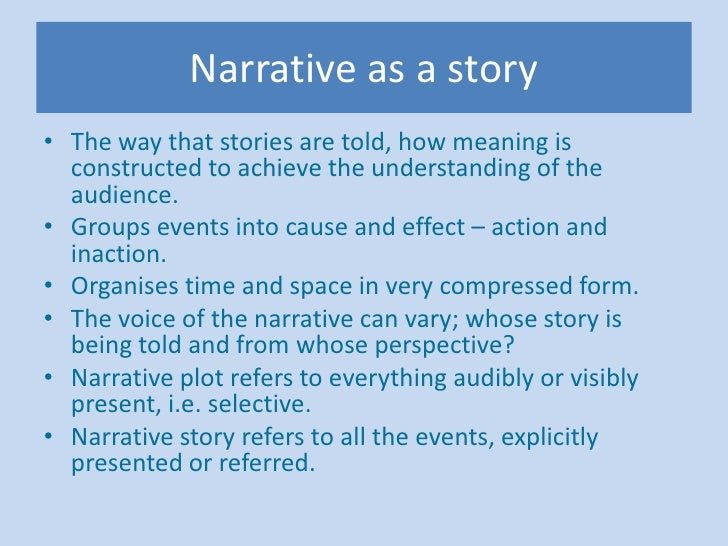 the narrative research method Abstract this paper offers a view of narrative case studies as a form of narrative inquiry based upon social constructionist, constructivist and.