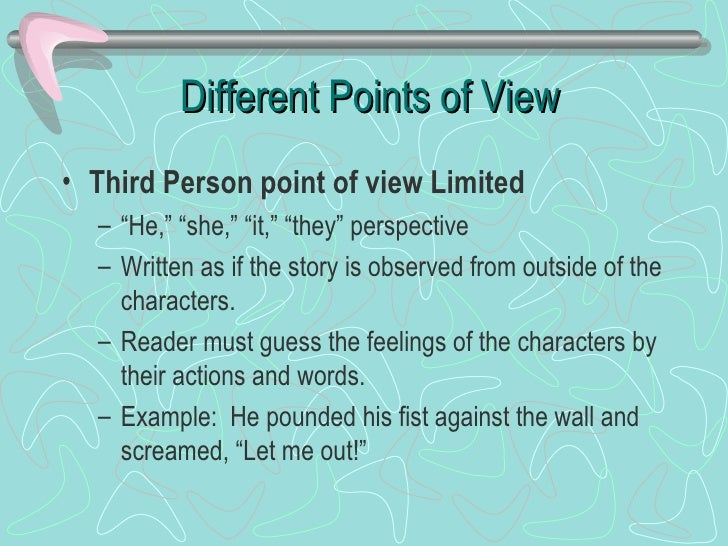 the influence of point of view on a story essay Does the title immediately influence what you are about  who tells the story,  addressee, tone, persona, point of view, ideal reader / listener, narrative.