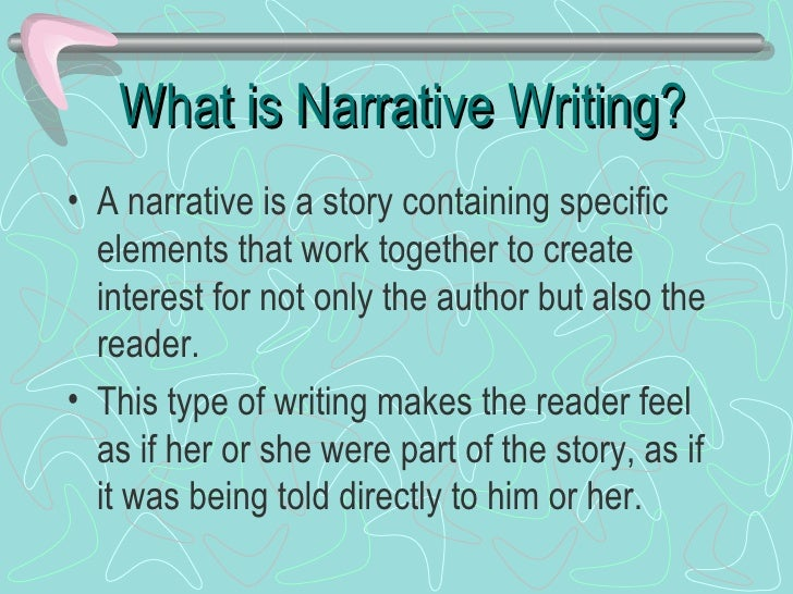 elements of narrative writing