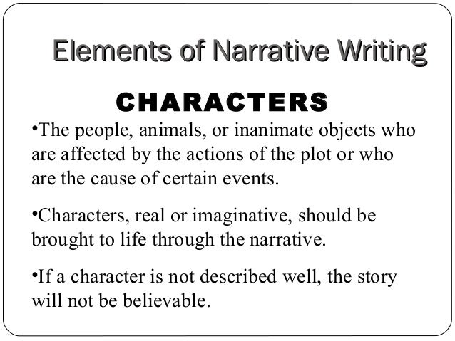 Narrative writing help