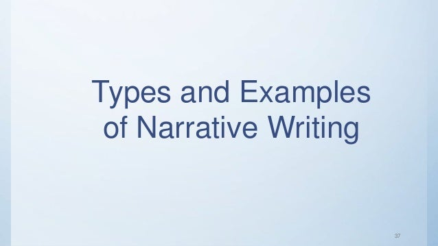 kinds of narrative writing