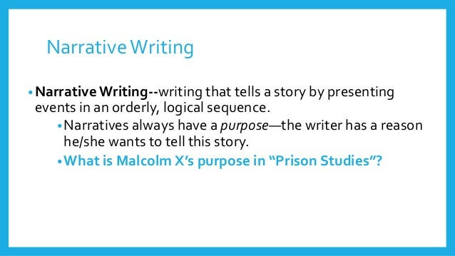 Narrative Writing and the Writing Process