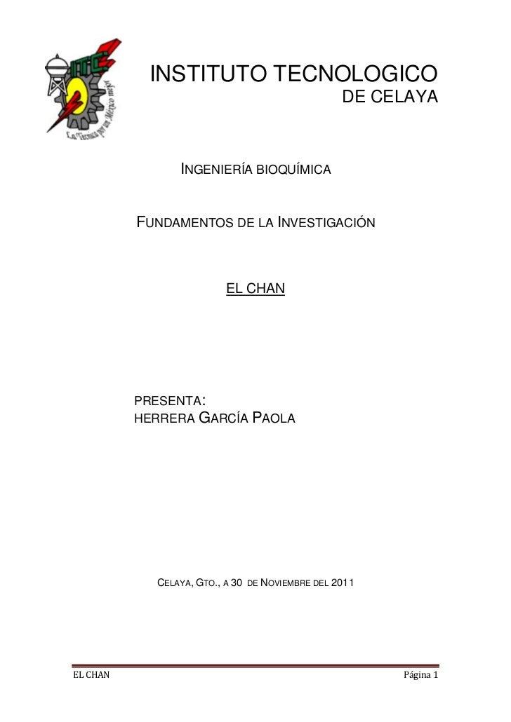 INSTITUTO TECNOLOGICO                                                   DE CELAYA                INGENIERÍA BIOQUÍMICA    ...
