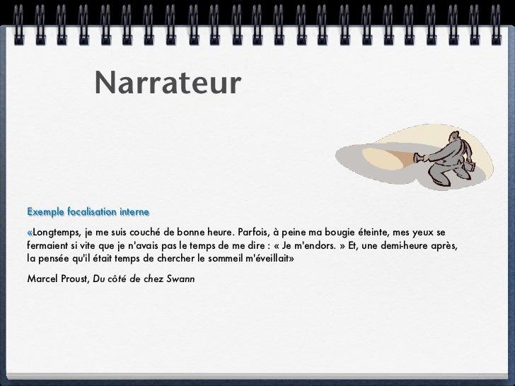 Narratologie 1 narrateur focalisation - Longtemps je me suis couche de bonne heure ...