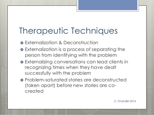 """narrative therapy """"a narrative or story is anything told or recounted more narrowly, something told or recounted in the form of a causally-linked set of events account tale, the telling of a happening or connected series of happenings, whether true or fictitious"""" (denning, 2006)."""