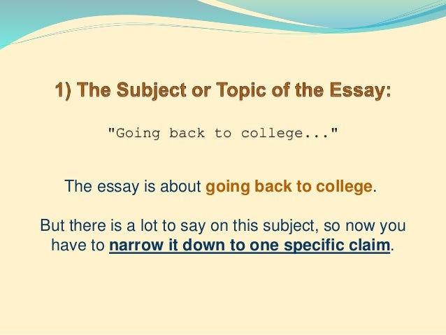 narrowing thesis statement 15 three reasons going back to college