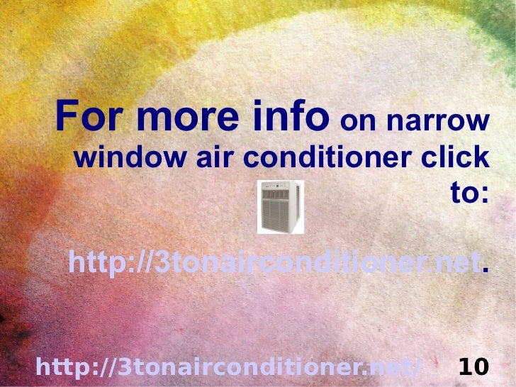 Narrow Window Air Conditioner Choices