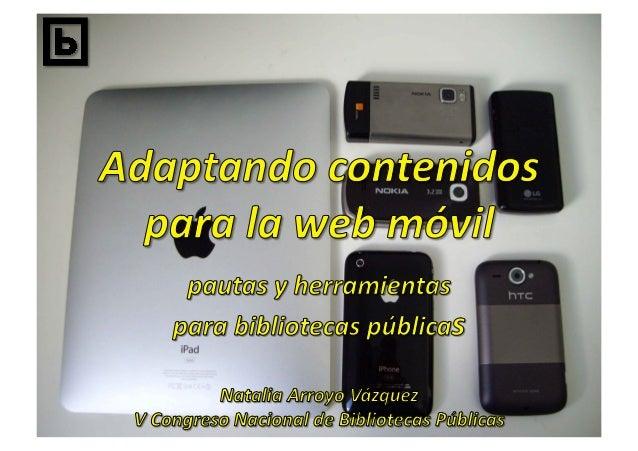 "Mobile  web  best  prac/ces  1.0   h""p://www.w3.org/TR/mobile-‐bp/"