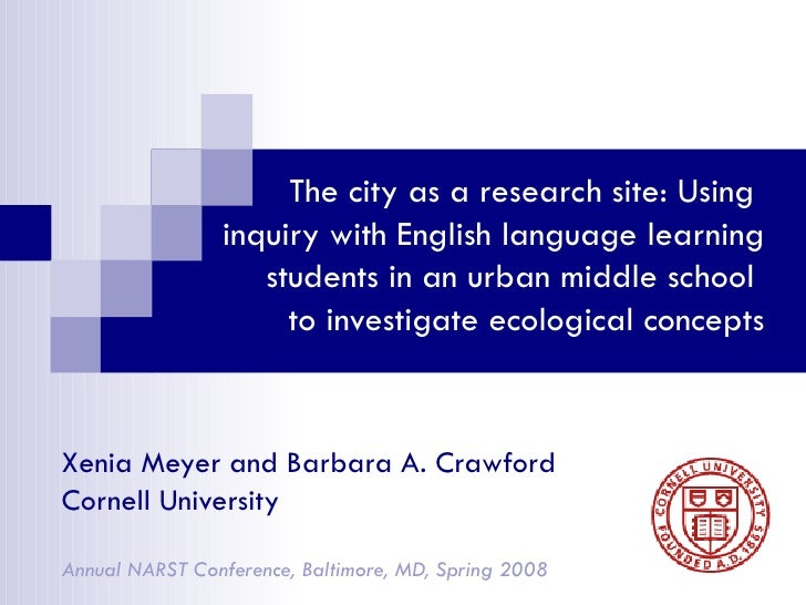 The city as a research site: Using  inquiry with English language learning students in an urban middle school  to investig...