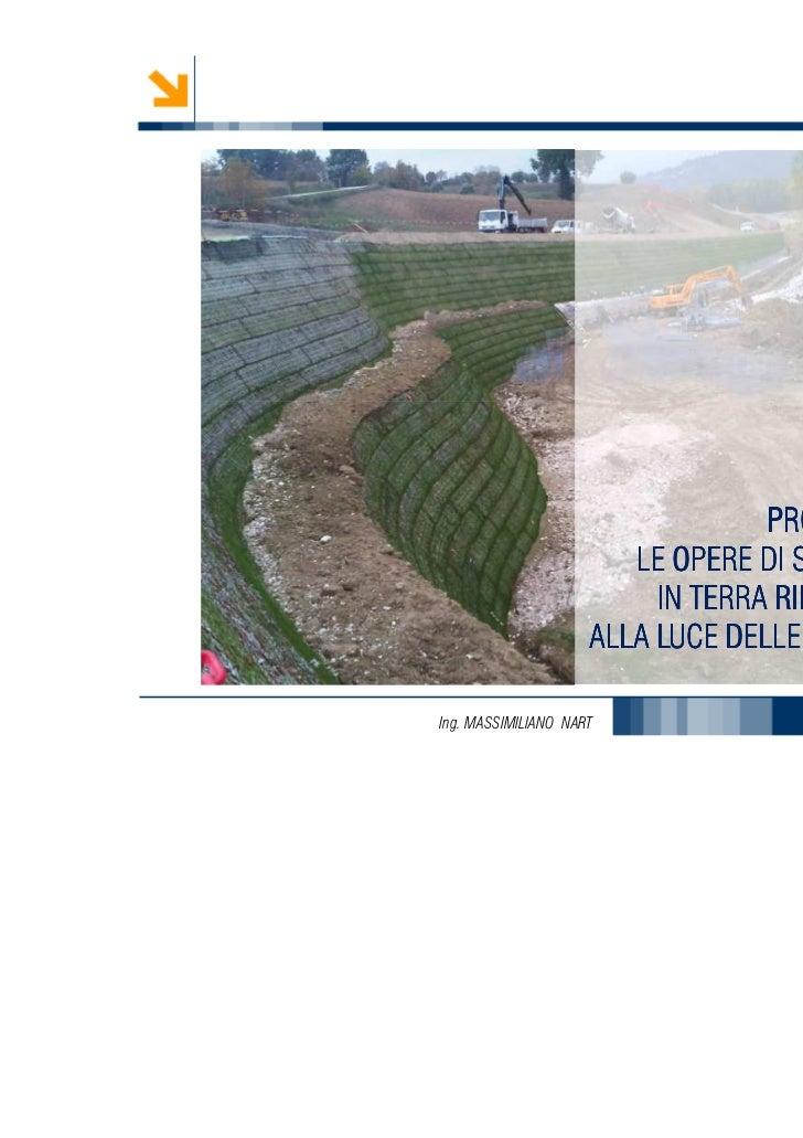 PROGETTARE                        LE OPERE DI SOSTEGNO                          IN TERRA RINFORZATA                     AL...