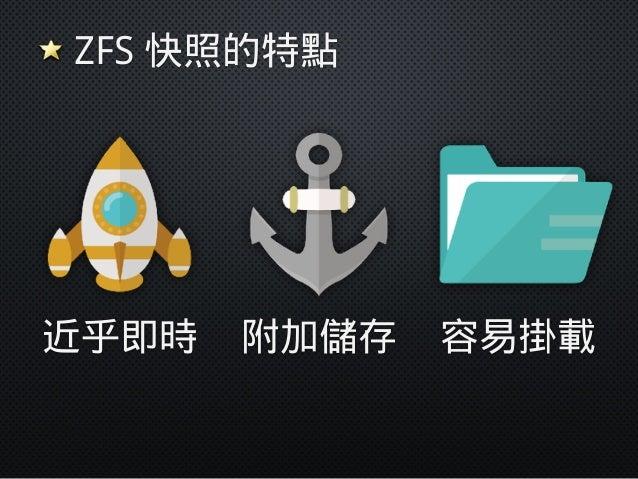 ZFS 快照為什麼快? 13:00 13:10 13:20 插時間戳記,繼續寫資料