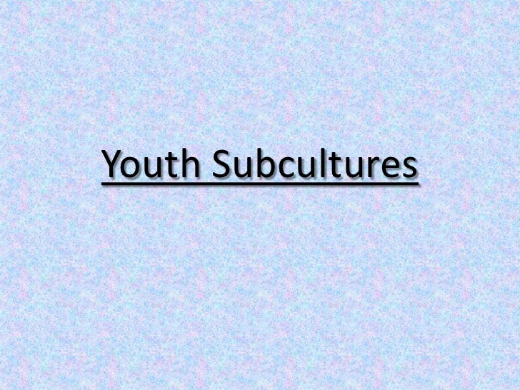 Youth Subcultures <br />