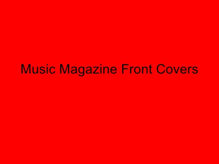 Music Magazine Front Covers