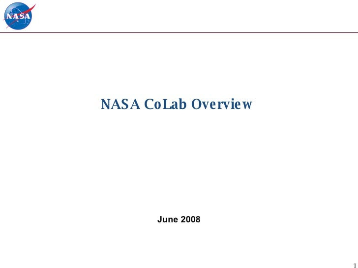 NASA CoLab Overview  June 2008