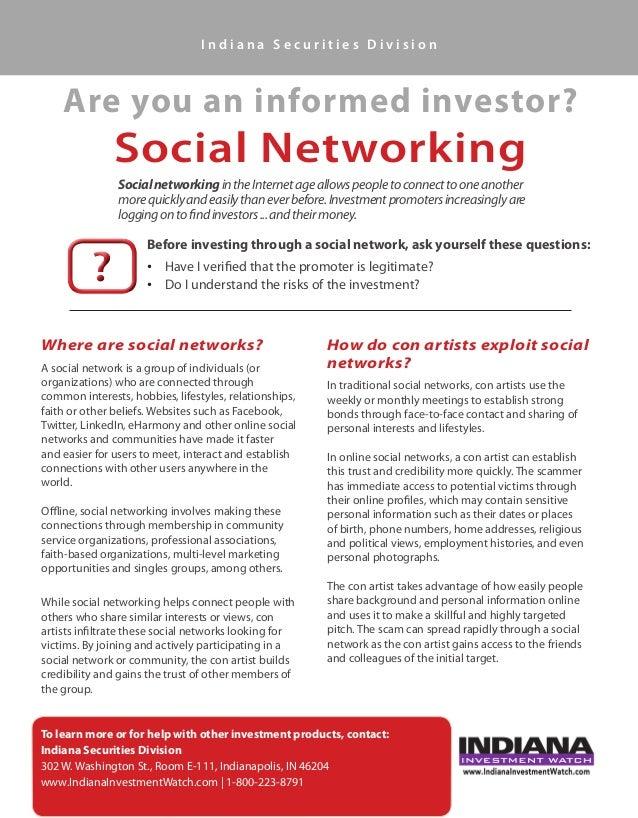 Informed Investor: Social Media