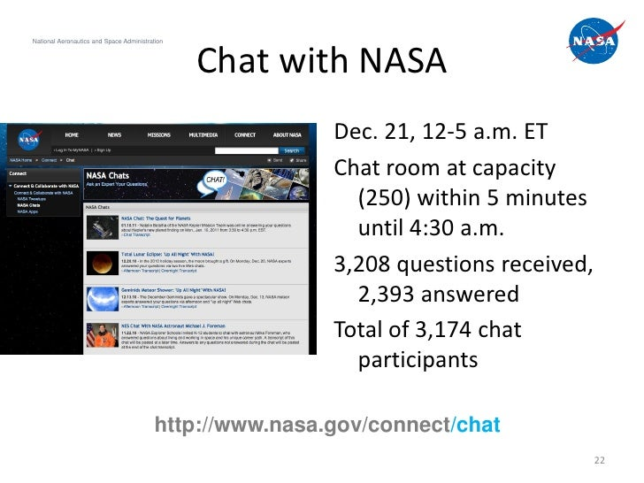 National Aeronautics and Space Administration                                                Chat with NASA               ...