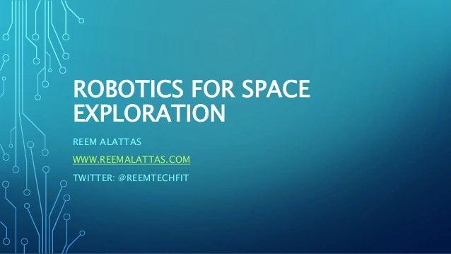 Nasa Datanauts Water Cooler Chat: Robotics for Space Exploration