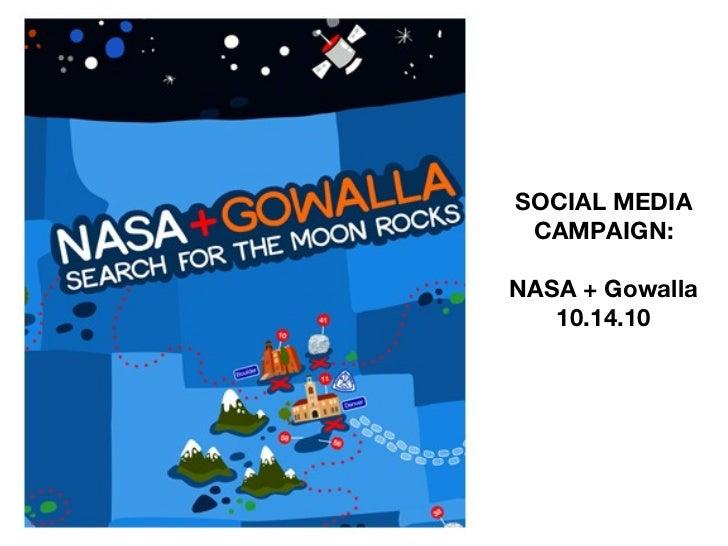 SOCIAL MEDIA CAMPAIGN: NASA + Gowalla 10.14.10