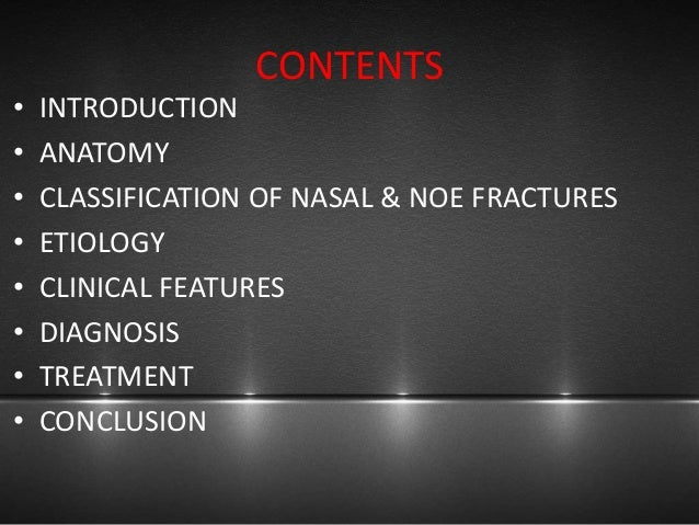 Nasal and noe fractures Slide 2