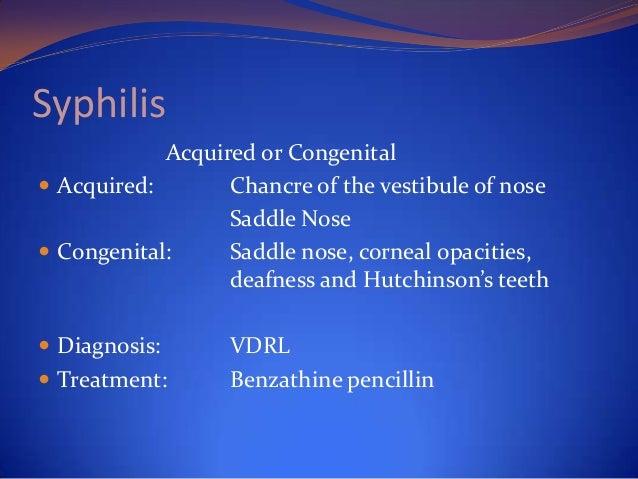 Leprosy  Nose:  Nasal septum and ant. inferior turbinate   C/F:  Nodular lesion Atrophic rhinitis, dep. of nose,  destru...