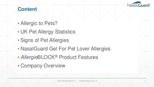 NasalGuard AllergieBLOCK For Pet Lovers- UK PPT  Slide 2