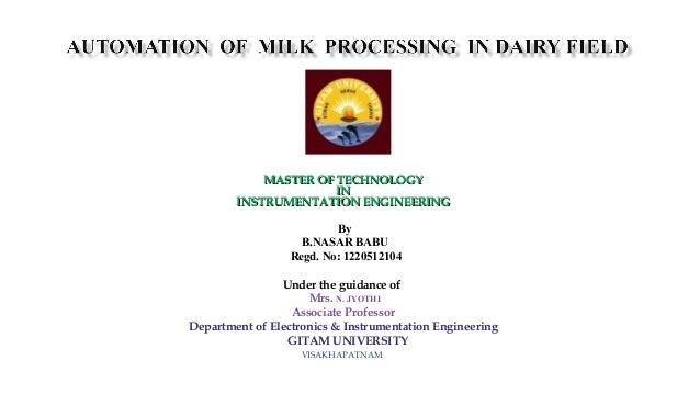 MASTER OF TECHNOLOGYMASTER OF TECHNOLOGY ININ INSTRUMENTATION ENGINEERINGINSTRUMENTATION ENGINEERING  By B.NASAR BABU R...