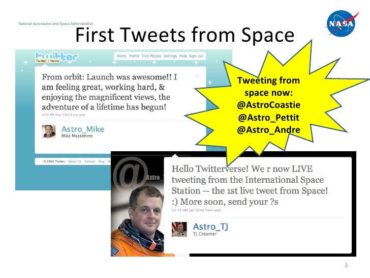 How to host a tweetup: Lessons from #NASATweetup Slide 3